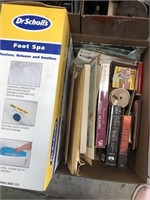 Box of foot spa/books