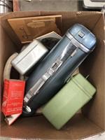 Box with vintage vacuum