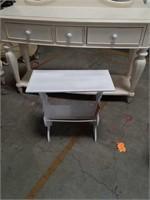 White magazine rack table