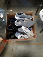 Box of shoes and boots