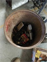 Barrel of tools and hardware