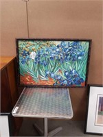 Floral painting on board