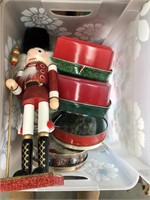 Been with cookie tins and nutcracker