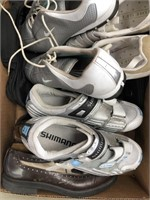 Box of shimano, Nike, diesel shoes