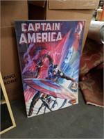 Framed Captain America poster