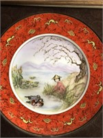 Pair of Asian wall plates