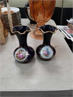Pair of vases by Limoges