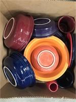 Box of fiesta Ware