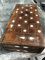 Mother of pearl backgammon game