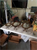 Box of dishes with stands