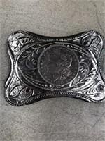Belt buckle with Morgan