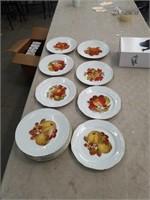 12 fruit German saucers