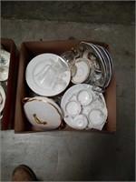 Box of miscellaneous China some Lamoge
