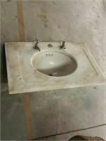 Marble top sink
