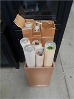 Bundle of boxes of miscellaneous floral wallpaper