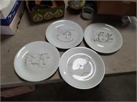 4 limoge Picaso plates