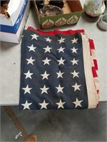 Old American flag with 48 stars