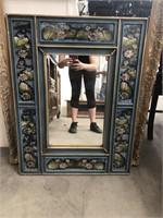 Lily pad framed mirror