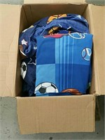 Box of bedding sheets and blanket