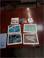 Folder of space shuttle memorabilia