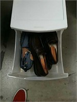 Plastic chest with shoes