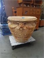 Ornate Gothic cement flower pot