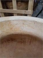 Ornate Gothic cement flowerpot