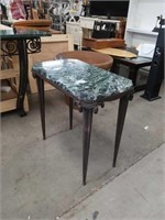 Marble top metal base side table how's it going