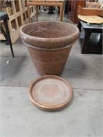 Large terracotta flowerpot