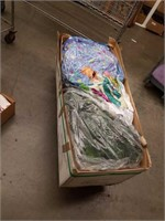 Box of artificial Christmas tree