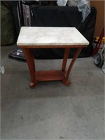 Empire style marble top side table