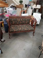 Antique bench with  inlay frame