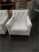 Pair of modern white occational chairs