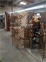 3 panel decorative metal screen