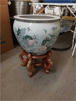 Asian flower pot with stand
