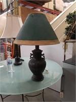 Asian metal table lamp