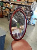 Sm.oval wall mirror