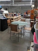 Patio table and for rattan  metal chairs