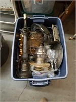 Tub of silver plated and miscellaneous