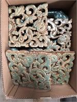 Box of antique tiles