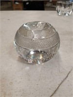 Signed crystal candle holder