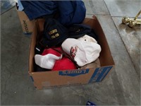 Box of hats and belts