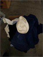 Box of Navy uniforms and clothes