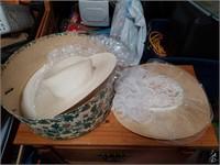 Ladies hat box with two ladies hats