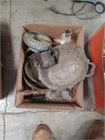 Box of metal ware