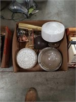 Box of lamp and glass lamp shades