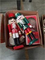 Box of nutcrackers and santa's