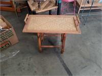 Bamboo small tray table