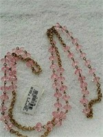 Bead neck pink necklace