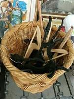 Basket of hangers